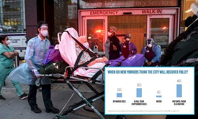 Nearly 75% of New Yorkers believe coronavirus cases on the city will spike by this winter