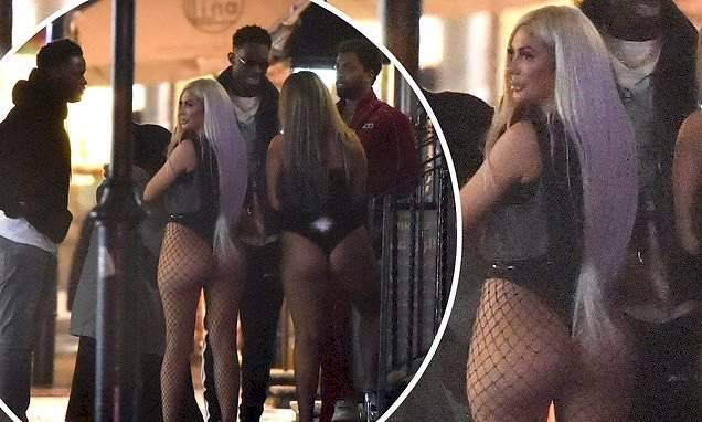 Chloe Ferry appears to flout Tier 2 lockdown rules at crowded London party