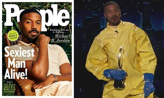 Michael B. Jordan reveals himself as Sexiest Man Alive 2020 after appearing in disguise on talk show